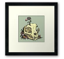 Little Skull Colour Framed Print