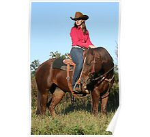 Catalog Cowgirl Poster
