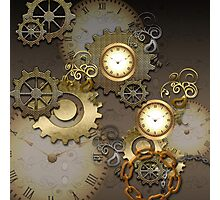 Steampunk, clocks and gears  Photographic Print