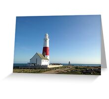 Portland Bill Lighthouse by Natalie Manifold Greeting Card