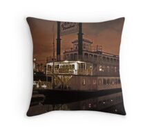 Steak House Cruise Ship  Throw Pillow