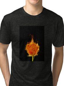 Fire rose Tri-blend T-Shirt