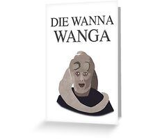 Bib Fortuna: Die Wanna Wanga: Black Version Greeting Card