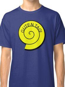 "Buttons ""Guten Tag"" rot, gelb unt schwarz Classic T-Shirt"