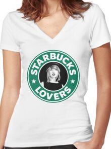 Starbucks Lovers Women's Fitted V-Neck T-Shirt