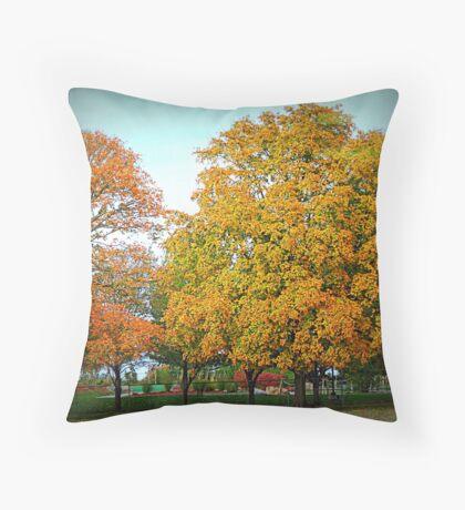 Autumn Plays Miniture Golf Throw Pillow