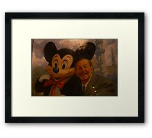Walt Disney Mickey Mouse Vintage Mickey Mouse Disney Framed Print