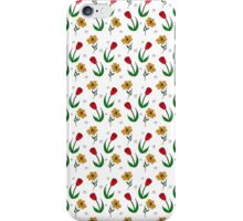 Daisy And Tulip Graphic Pattern iPhone Case/Skin