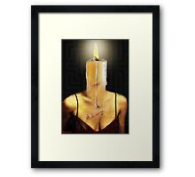 THE CANDLE FLAME Framed Print