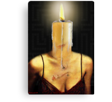 THE CANDLE FLAME Canvas Print