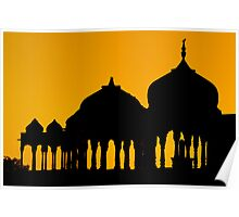 Silhouettes of Cenotaphs Poster