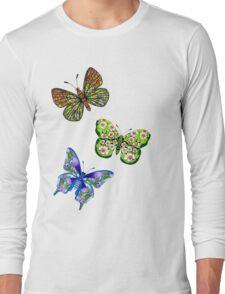 3 Butterflies T Long Sleeve T-Shirt
