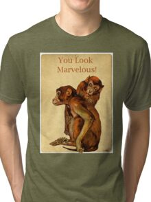 Marvelous Monkey Couple Tri-blend T-Shirt
