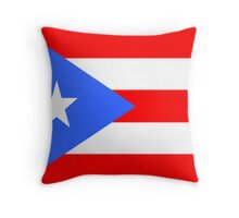 Flag of Puerto Rico Throw Pillow
