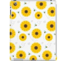 Sunflower And Bumble Bees Graphic Pattern iPad Case/Skin