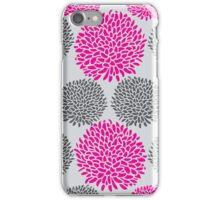 Gray & Pink Pom Pom iPhone Case/Skin