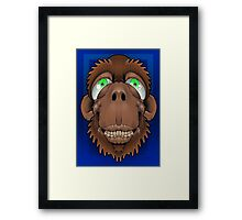 Silly Monkey Framed Print