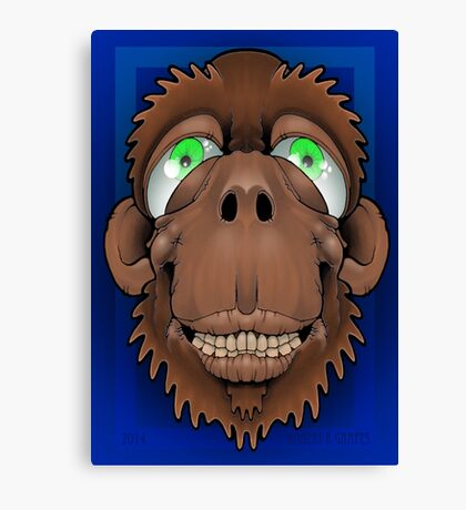 Silly Monkey Canvas Print