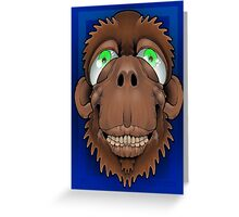 Silly Monkey Greeting Card