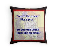 Learn The Rules Throw Pillow