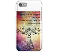 Zen Art Inspirational Buddha Quotes iPhone Case/Skin