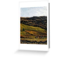 Late Fall Pasture Greeting Card