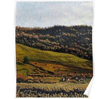 Late Fall Pasture Poster