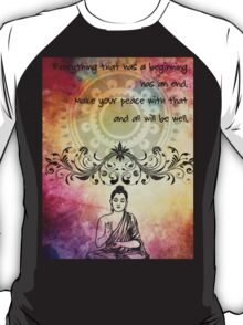 Zen Art Inspirational Buddha Quotes T-Shirt