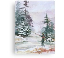 "Winter Magic - A very ""Wintery"" and Calm Fishing Scene Canvas Print"