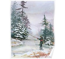 "Winter Magic - A very ""Wintery"" and Calm Fishing Scene Poster"