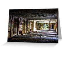 The abandoned ballroom Greeting Card