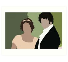 Lizzy and Darcy Art Print