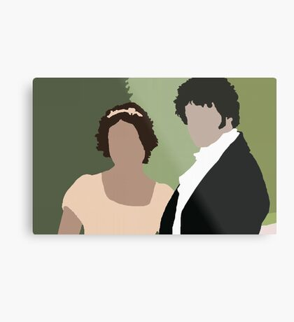 Lizzy and Darcy Metal Print