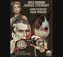 Bull Terrier Art - Rear Window Movie Poster Unisex T-Shirt