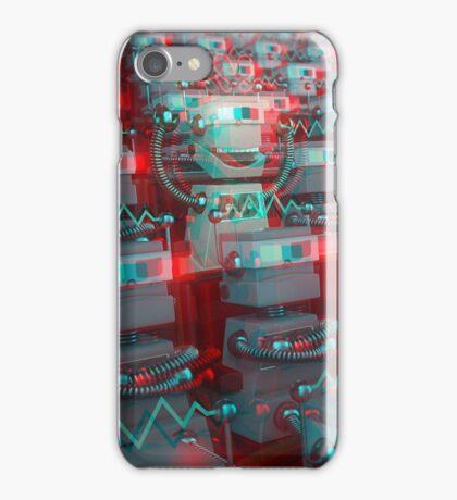 Retro 3D Robot Cinema iPhone Case/Skin