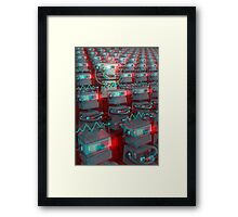 Retro 3D Robot Cinema Framed Print