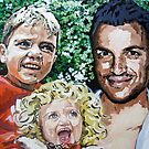 Peter Andre, Junior and Princess by artist Debbie Boyle - db artstudio by Deborah Boyle