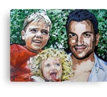 Peter Andre, Junior and Princess by artist Debbie Boyle - db artstudio Canvas Print