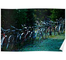 Bicycle Fence Poster