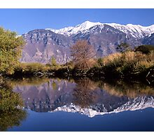 """""""Y"""" Mountain Reflections Photographic Print"""