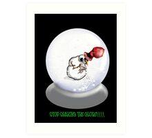 Nauseous Snowman Art Print