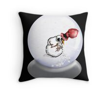 Nauseous Snowman Throw Pillow