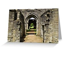 Archways at Dunkeld Cathedral. Greeting Card