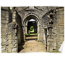 Archways at Dunkeld Cathedral. Poster