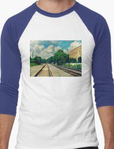 On the Train to Nowhere Men's Baseball ¾ T-Shirt
