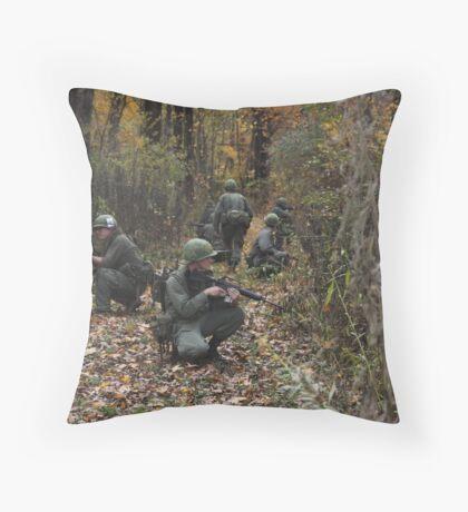 Viet Nam Re-Enactment Throw Pillow