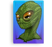 Cold Blooded Alien Metal Print