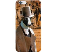 Bull Terrier Art - Gentleman iPhone Case/Skin