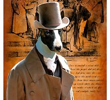 Bull Terrier Art - Gentleman by NobilityDogs