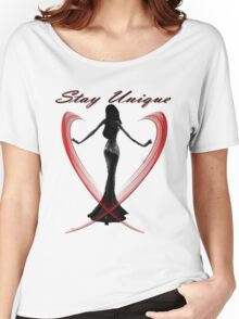 Stay unique-  Art + Products Design  Women's Relaxed Fit T-Shirt